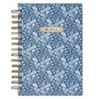 Journal: Be Still, Blue Paisley Spiral