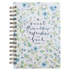 Journal Blue Flowers and Birds (Proverbs 27: 9) (Sweet Friendship Collection) Spiral