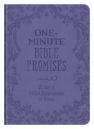 One-Minute Bible Promises: 365 Days of Biblical Encouragement For Women (Pink) Paperback