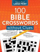 100 Crosswords Without Clues Large Print Paperback