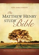 The KJV Matthew Henry Study Bible (Red Letter Edition) Bonded Leather