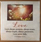 Touching Thoughts Magnet: Love... Love Always Protects... (1 Cor 13:7-8) Novelty