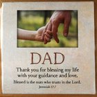 Touching Thoughts Magnet: Dad... Thank You For Blessing My Life... (Jeremiah 17:7) Novelty