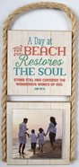 Gone Coastal Photo Plaque: A Day At the Beach Restores the Soul... (Job 37:14) Plaque