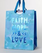 Gift Bag Medium: Faith, Hope, Love (Incl Two Sheets Tissue Paper & Gift Tag) Stationery