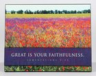 Wall Art: Great is Your Faithfulness (Lamentations 3:23) Plaque