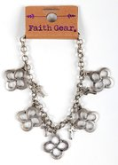 Women's Faith Gear Bracelet: Swirl Cross, Silver Jewellery
