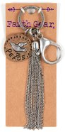 Women's Faith Gear Keyring: Peace, Dove (Gold & Silver) Novelty