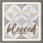 Carved Wall Art: Blessed, Quilt Design Plaque