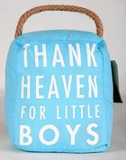 Door Stopper: Little Boys, Pale Blue/White Homeware