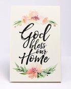 Woodland Grace Plaque: God Bless Our Home, Pink/Floral Plaque
