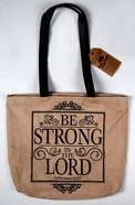 Leather Tote Bag: Be Strong in the Lord, Eph 6:10, 40Cm X 32Cm, Handle 32Cm Long Homeware