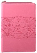 Journal Divine Details: Follow the Way of Love, Pink , Zippered Closure (1 Cor 14:1) Imitation Leather