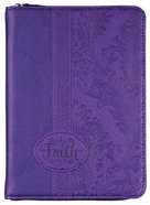 Journal Divine Details: Faith, Dark Purple, , Zippered Closure (2 Cor 5:7) Imitation Leather