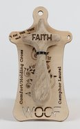 Australian Made Rescued Timber Holding Cross Medium: Faith, 10Cm General Gift
