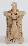Australian Made Rescued Timber Holding Cross Medium: Love, 10Cm General Gift