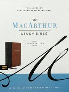 NASB Macarthur Study Bible 2nd Edition Brown Indexed Premium Imitation Leather