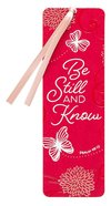 Bookmark Faux Leather: Be Still and Know Stationery