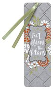 Bookmark Faux Leather: For I Know the Plans Stationery