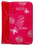 Devotional: Be Still and Know, Ziparound, Pink Imitation Leather