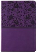 KJV Giant Print Reference Bible Purple Premium Imitation Leather