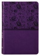 KJV Large Print Reference Bible Purple Imitation Leather