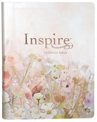 NLT Inspire Catholic Bible Large Print Pink Fields With Rose Gold (Black Letter Edition) Imitation Leather
