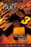 Encounter With God 2020 #01: Jan-Mar Paperback