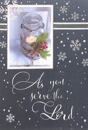 Christmas - as You Serve the Lord, Blue/White Snowflakes Cards
