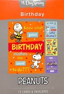 Boxed Cards Birthday: Peanuts (Ncv) Box