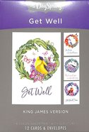 Boxed Cards Get Well: Peace and Recovery Birds (Kjv) Box