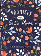 Notebook Journal: Promises From God's Heart, Blue/Floral Flexi Back
