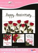 Boxed Cards: Anniversary - Celebrating Your Love Roses (Kjv) Box