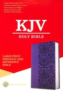KJV Holy Bible Large Print Personal Size Reference Bible Purple (Red Letter Edition) Premium Imitation Leather