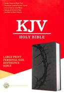 KJV Holy Bible Large Print Personal Size Reference Bible Charcoal (Red Letter Edition) Premium Imitation Leather