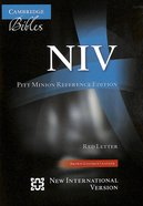 NIV Pitt Minion Reference Edition Brown Goatskin (Red Letter Edition) Genuine Leather
