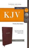 KJV Thinline Bible Burgundy (Red Letter Edition) Premium Imitation Leather