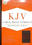 KJV Large Print Compact Reference Bible Saddle Brown Premium Imitation Leather