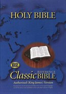 KJV Classic Reference Holy Bible Indexed Black Zipped (Black Letter Edition) Genuine Leather