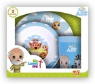 Noah's Ark Bpa Free, Top Rack Dishwasher Safe, Do Not Microwave (3 Piece Set) (He Loves Me Dinnerware Series) Homeware