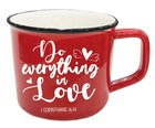 Ceramic Mug: Do Everything in Love, 1 Corinthians 16:14, Red Homeware