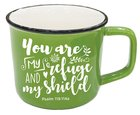 Ceramic Mug: You Are My Refuge and My Shield, Psalm 119:114a, Green Homeware
