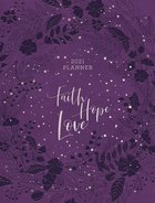 2021 16-Month Diary/Planner: Faith, Hope, Love (Zippered/purple) Imitation Leather