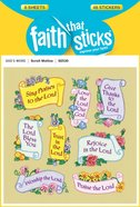 Scroll Motto (6 Sheets, 48 Stickers) (Stickers Faith That Sticks Series) Stickers