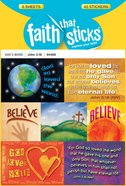 John 3: 16 (6 Sheets, 42 Stickers) (Stickers Faith That Sticks Series) Stickers