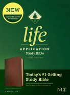 NLT Life Application Study Bible 3rd Edition Brown/Mahogany (Red Letter Edition) Imitation Leather