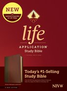 NIV Life Application Study Bible Brown/Mahogany (Red Letter Edition) (3rd Edition) Imitation Leather