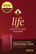 NIV Life Application Study Bible 3rd Edition Personal Size Berry (Black Letter Edition) Imitation Leather