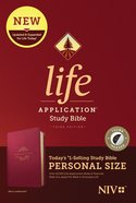 NIV Life Application Study Bible 3rd Edition Personal Size Berry Indexed (Black Letter Edition) Imitation Leather