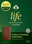 NLT Life Application Study Bible 3rd Edition Brown/Mahogany Indexed (Red Letter Edition) Imitation Leather